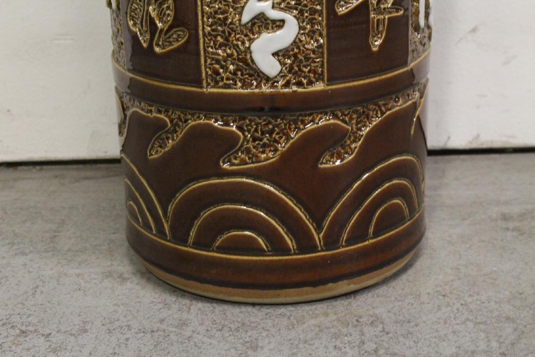 Large porcelain umbrella stand - 4