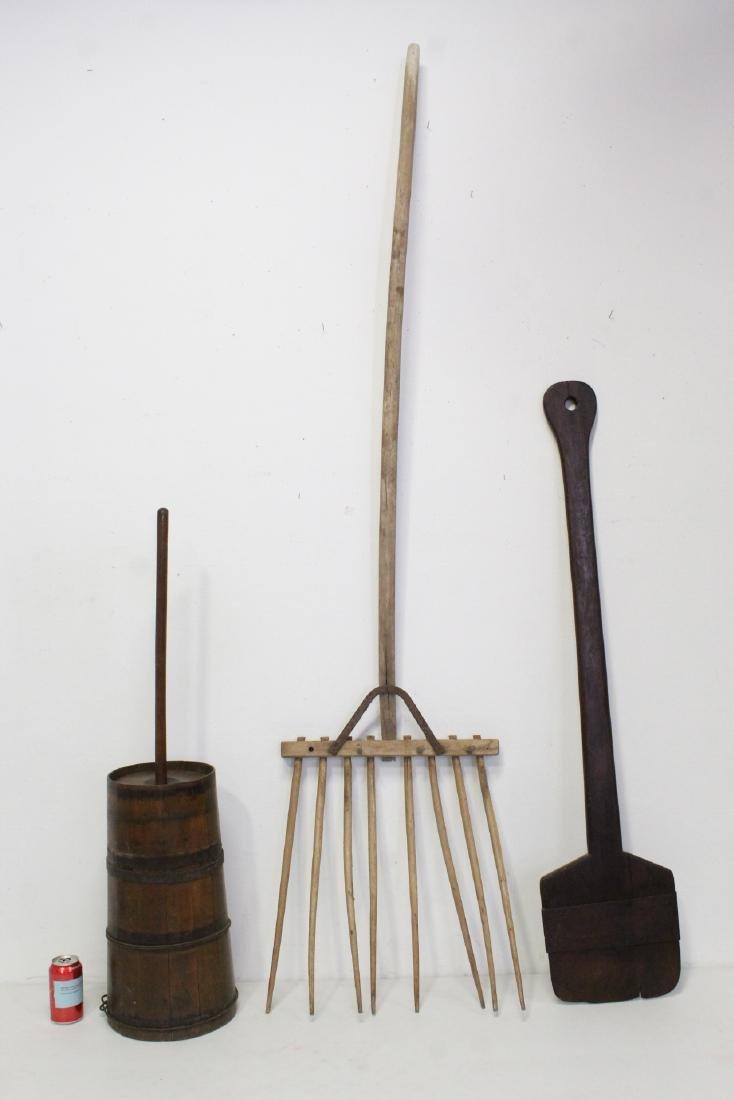3 Victorian hand farmer items