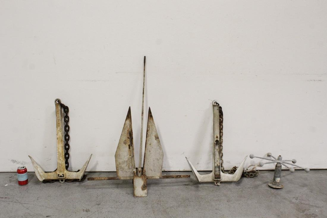 3 vintage anchors