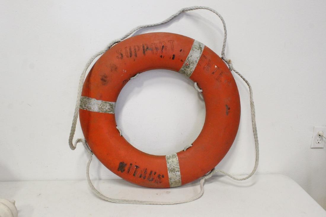 6 vintage life buoy rings - 3