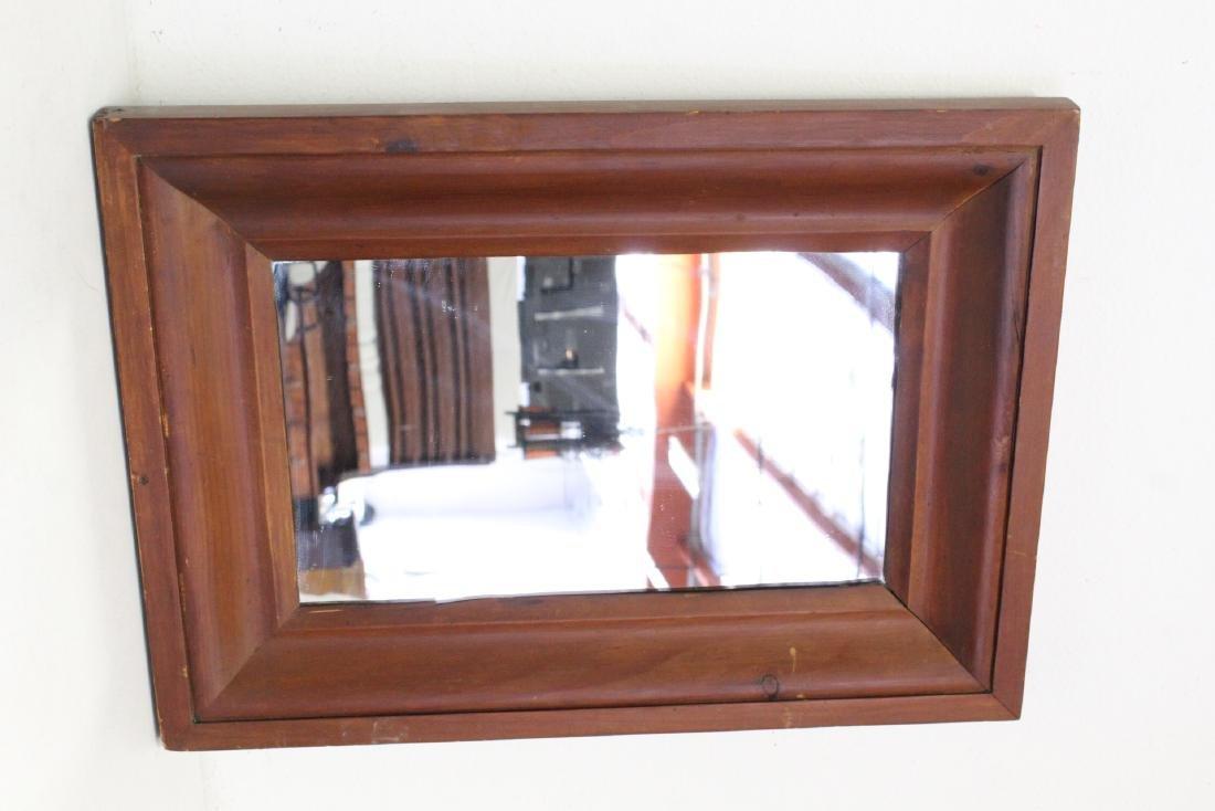 2 Victorian walnut framed mirrors - 10