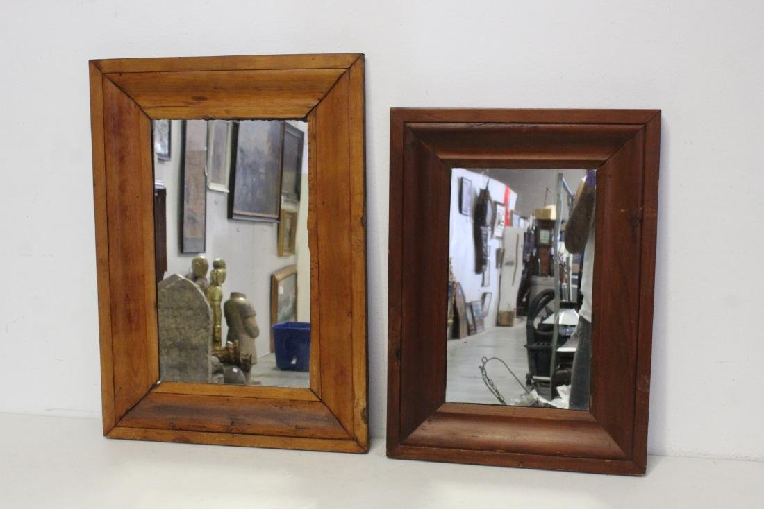 2 Victorian walnut framed mirrors