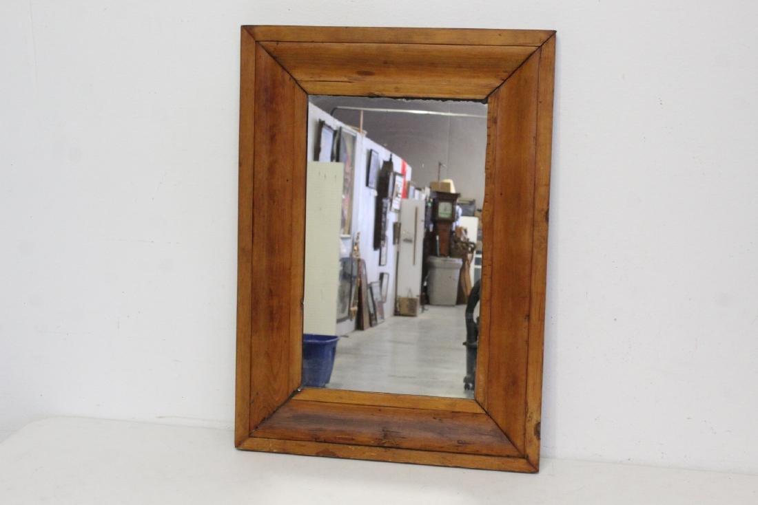 2 Victorian walnut framed mirrors - 2