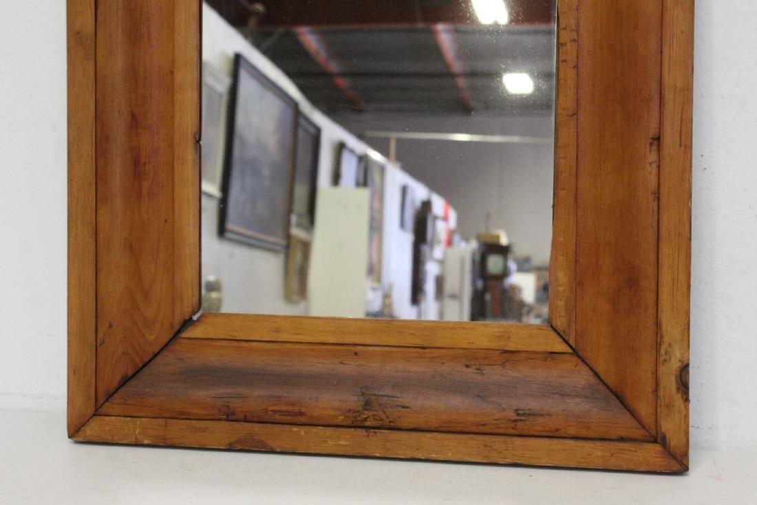 2 Victorian walnut framed mirrors - 3