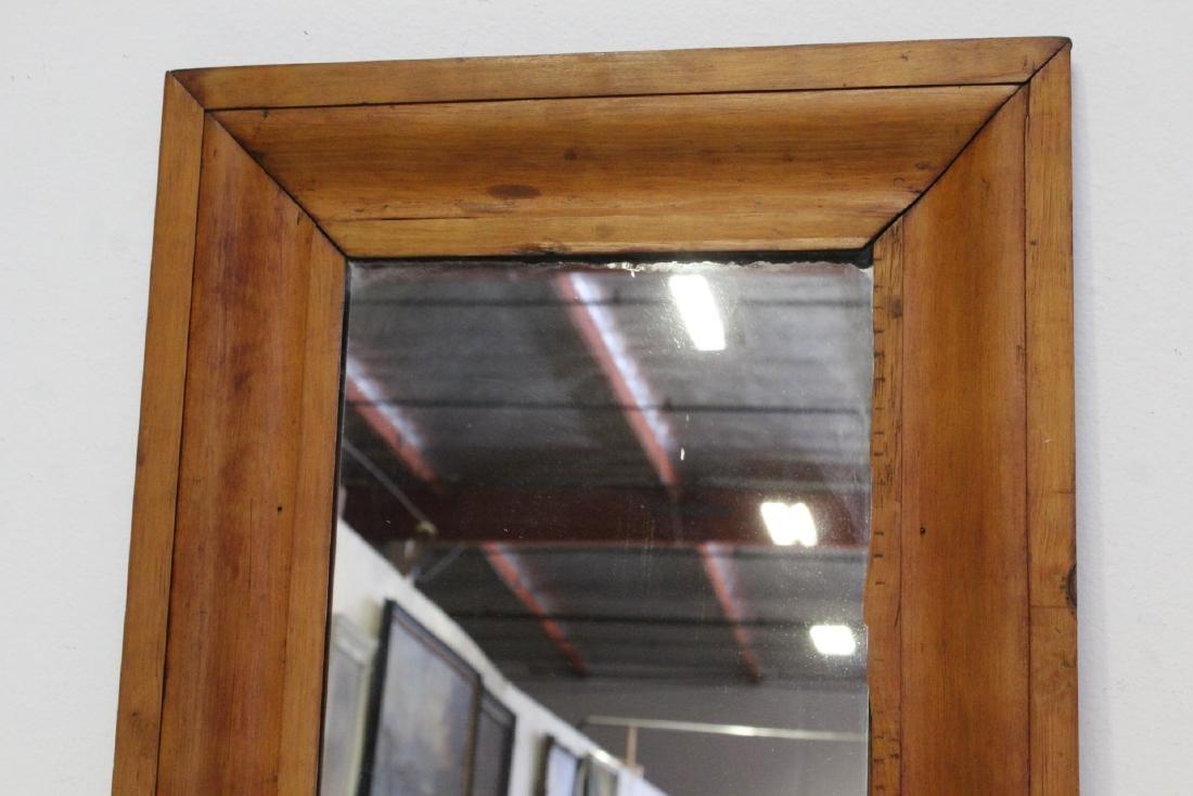2 Victorian walnut framed mirrors - 4