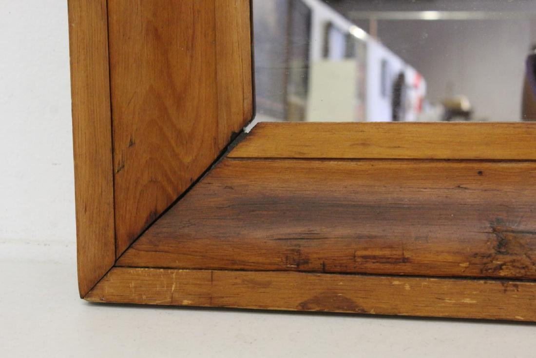 2 Victorian walnut framed mirrors - 6