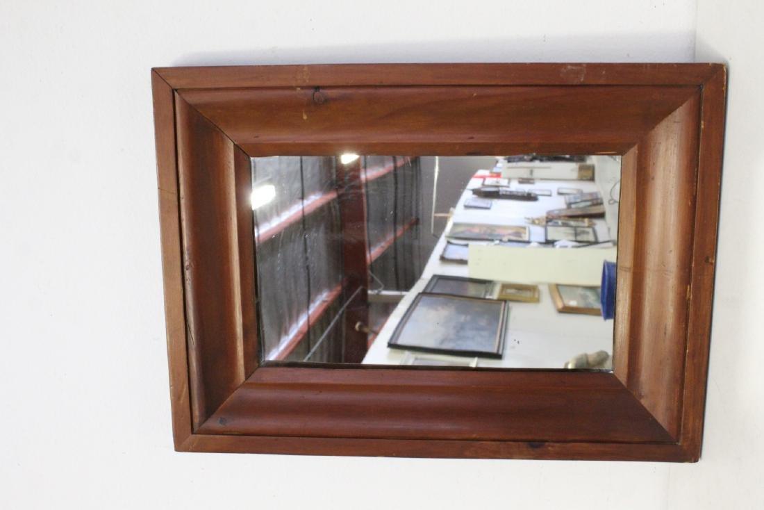 2 Victorian walnut framed mirrors - 7