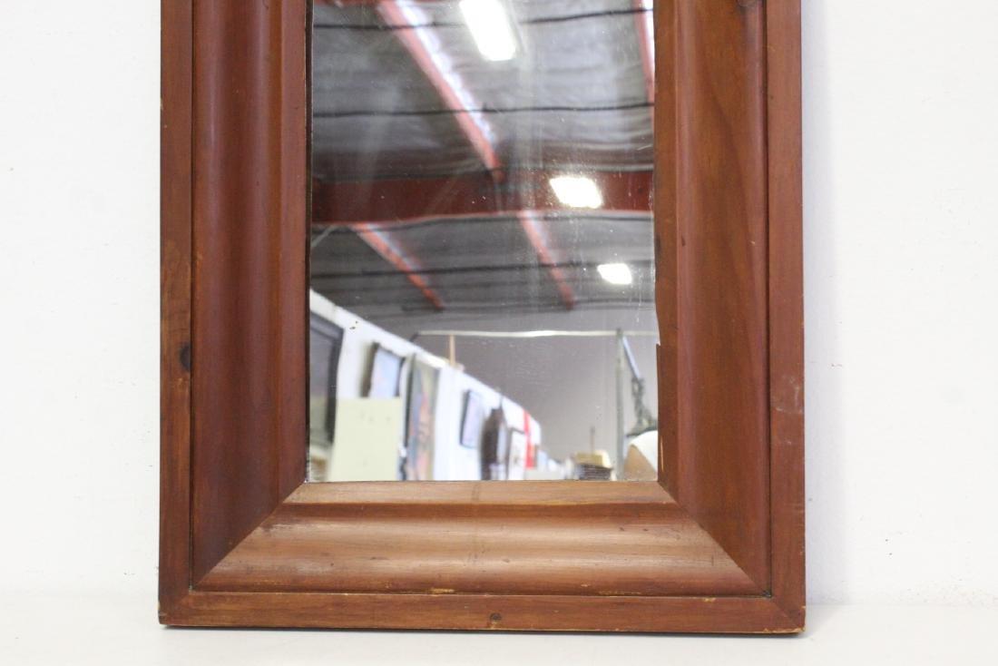 2 Victorian walnut framed mirrors - 8