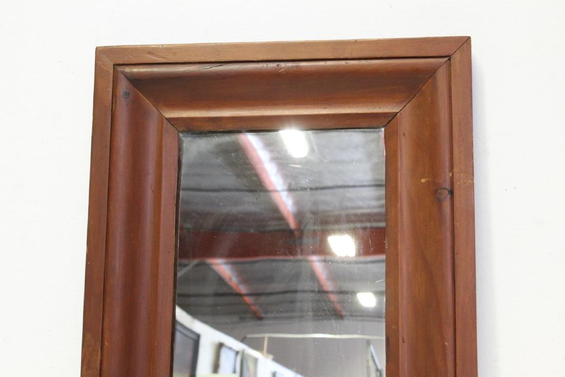 2 Victorian walnut framed mirrors - 9