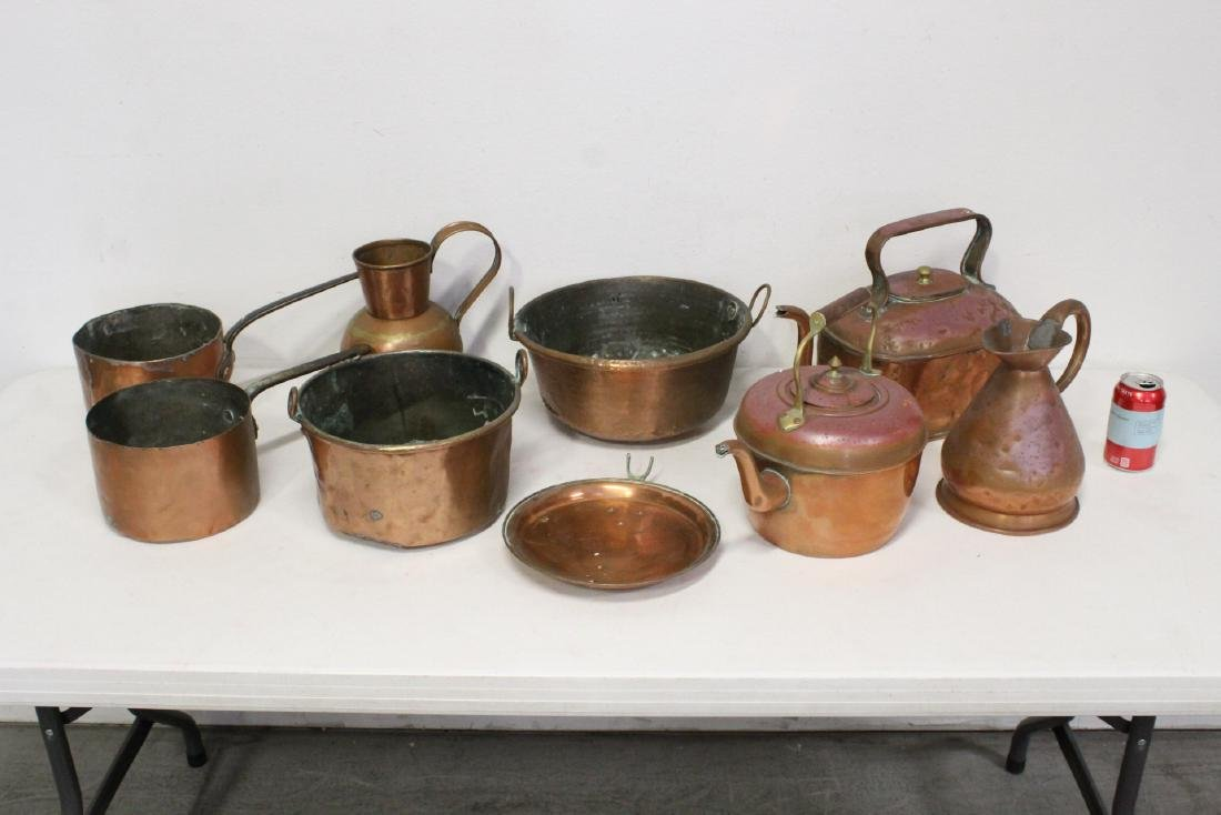 Large lot of copper pieces