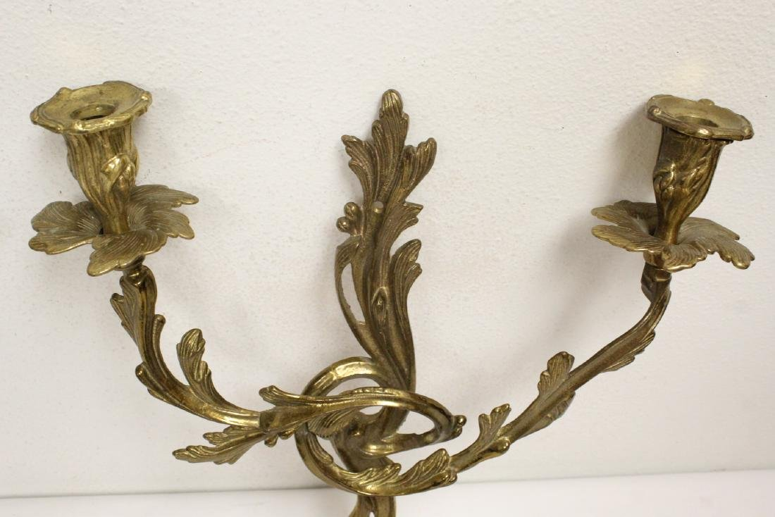 Pair bronze wall sconces - 3