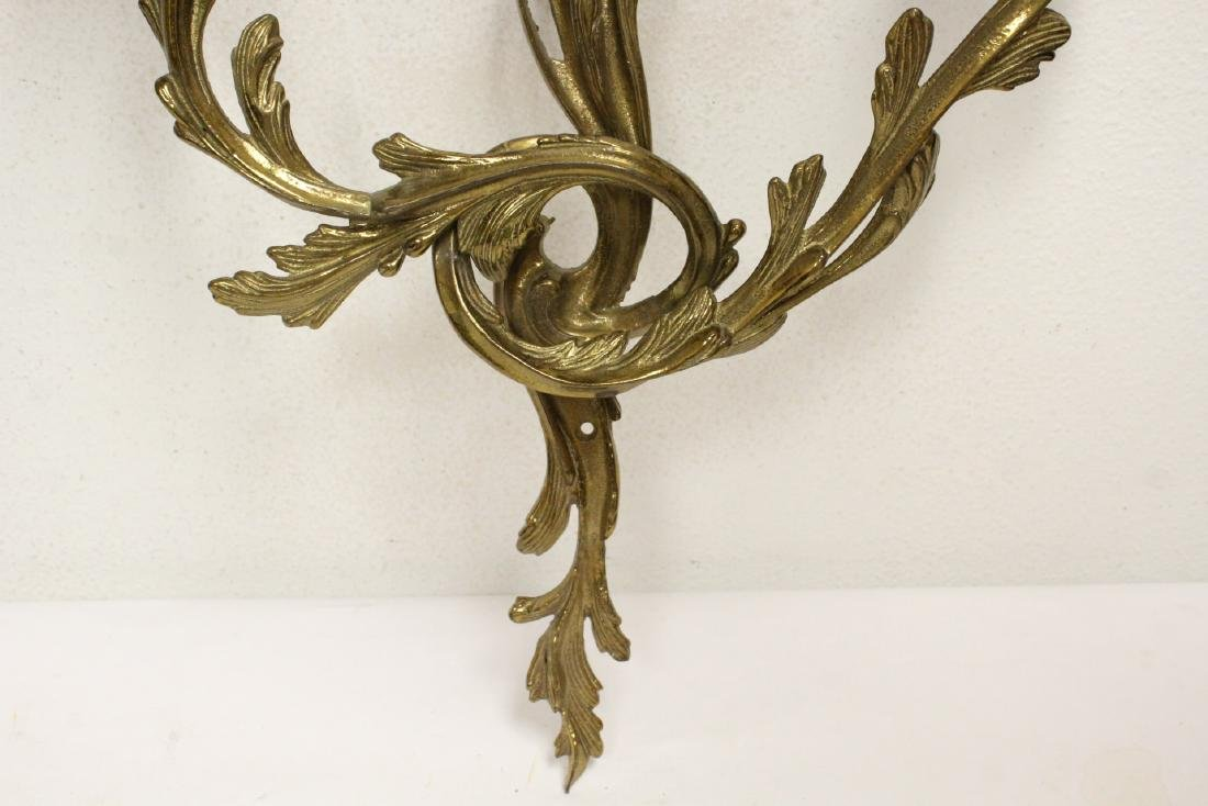 Pair bronze wall sconces - 4