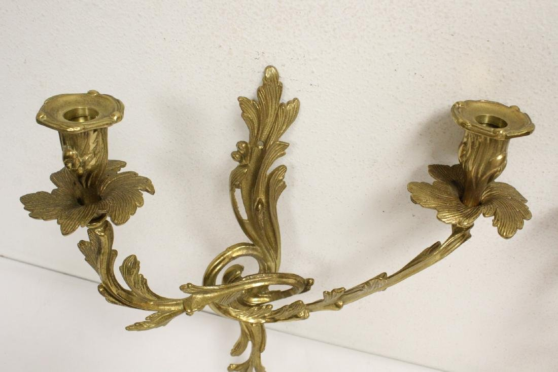 Pair bronze wall sconces - 6