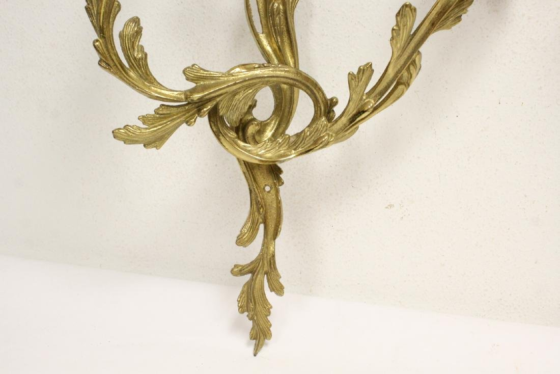 Pair bronze wall sconces - 7
