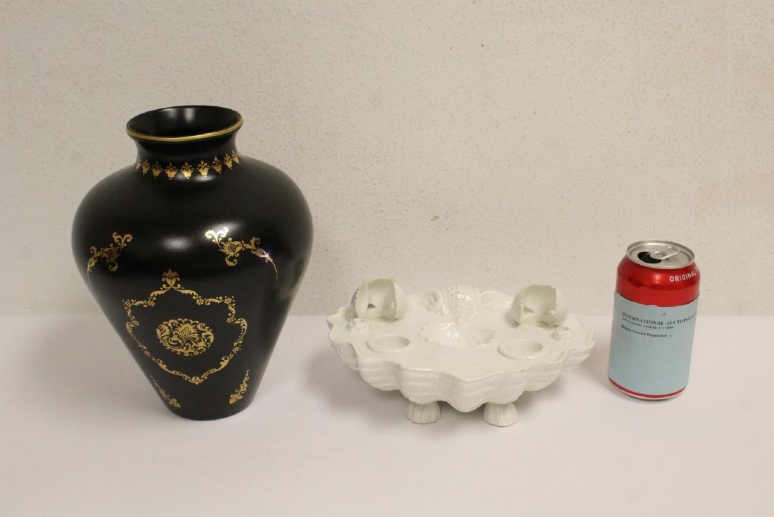 blanc de shin desk ornament & a Faberge Firebird vase