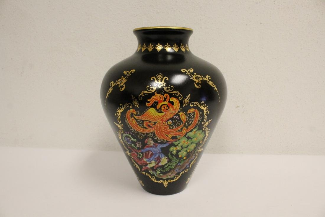 blanc de shin desk ornament & a Faberge Firebird vase - 3