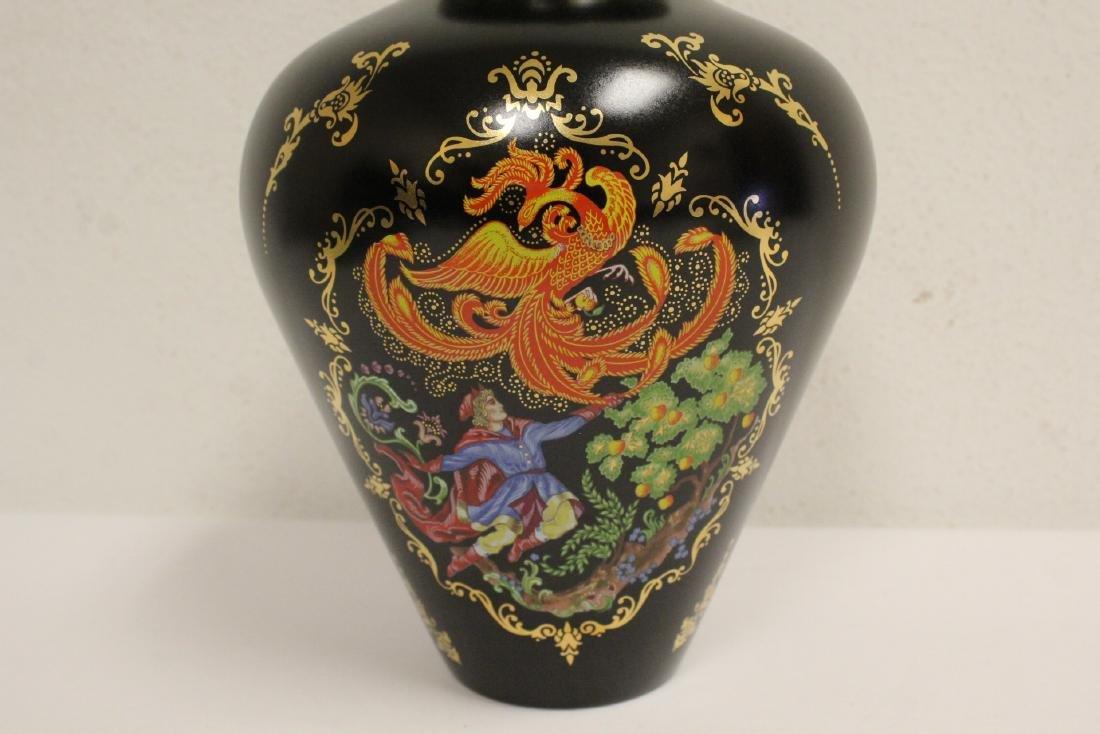 blanc de shin desk ornament & a Faberge Firebird vase - 4