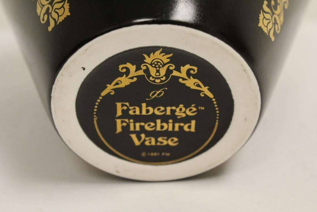 blanc de shin desk ornament & a Faberge Firebird vase - 6