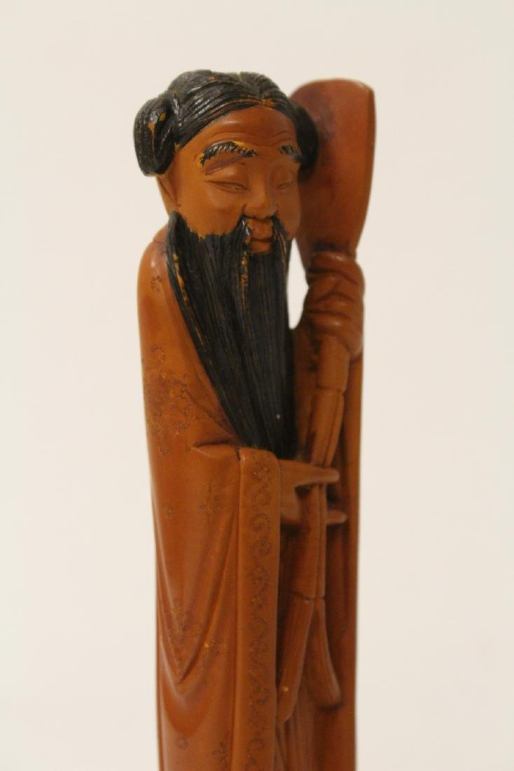 Possible huangyang wood carved figure - 10