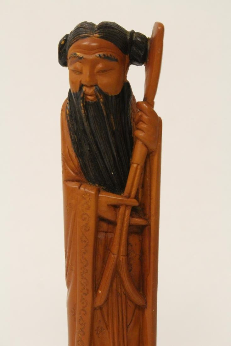 Possible huangyang wood carved figure - 6