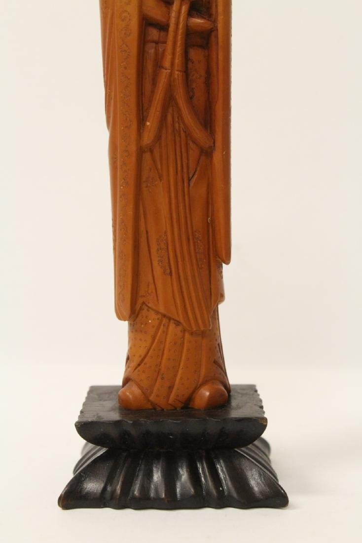 Possible huangyang wood carved figure - 7