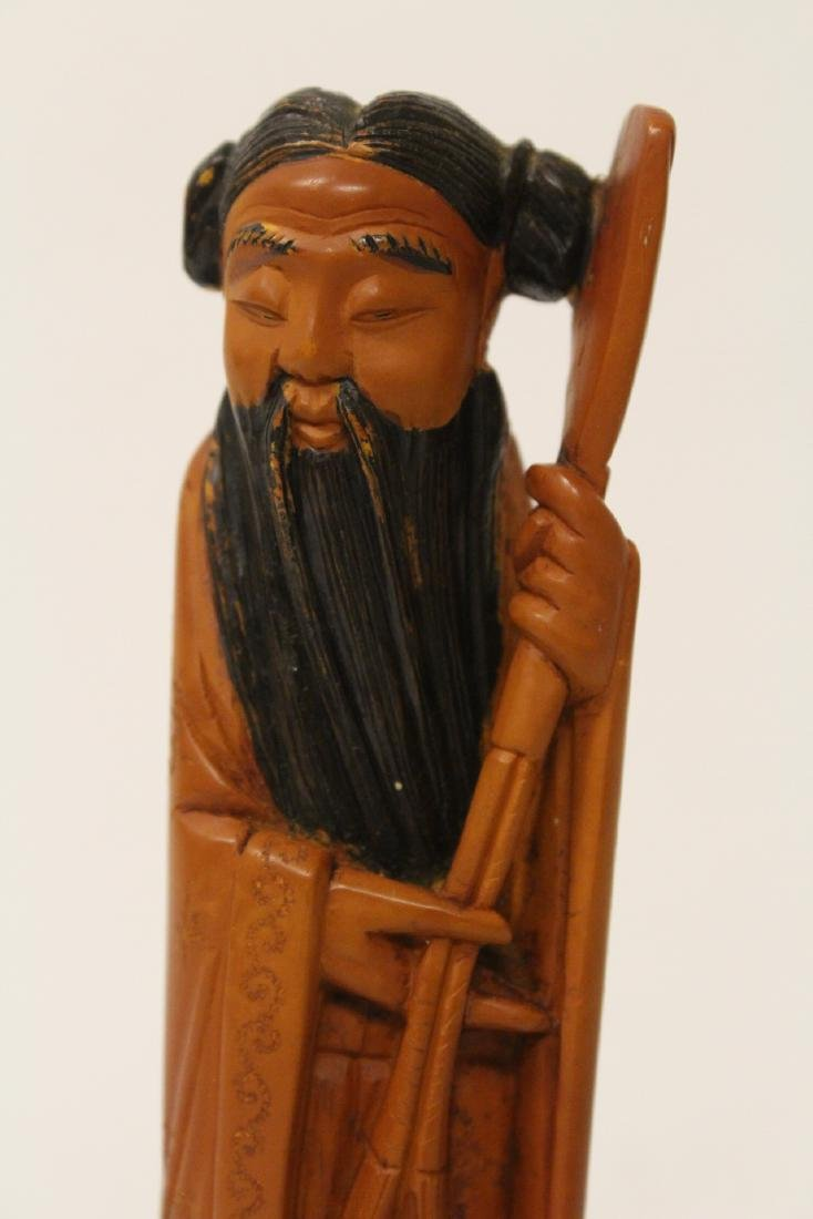 Possible huangyang wood carved figure - 8