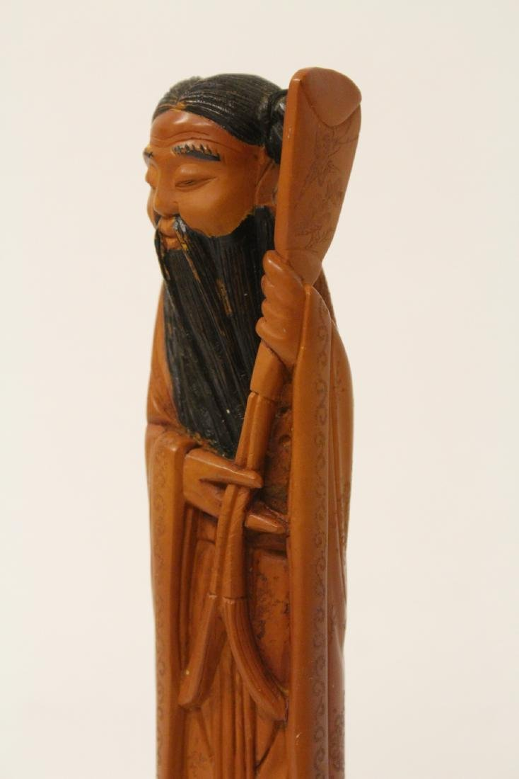 Possible huangyang wood carved figure - 9
