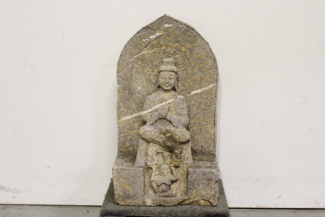 Chinese stone carved Buddha - 2