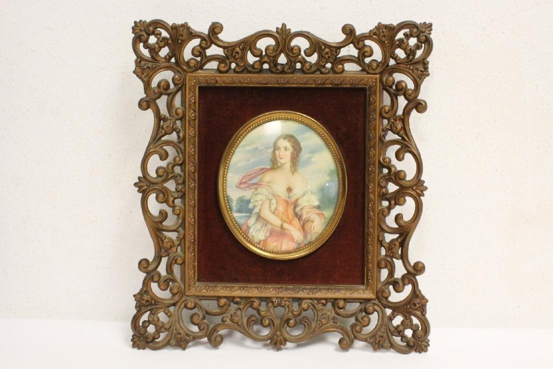4 framed antique prints - 2