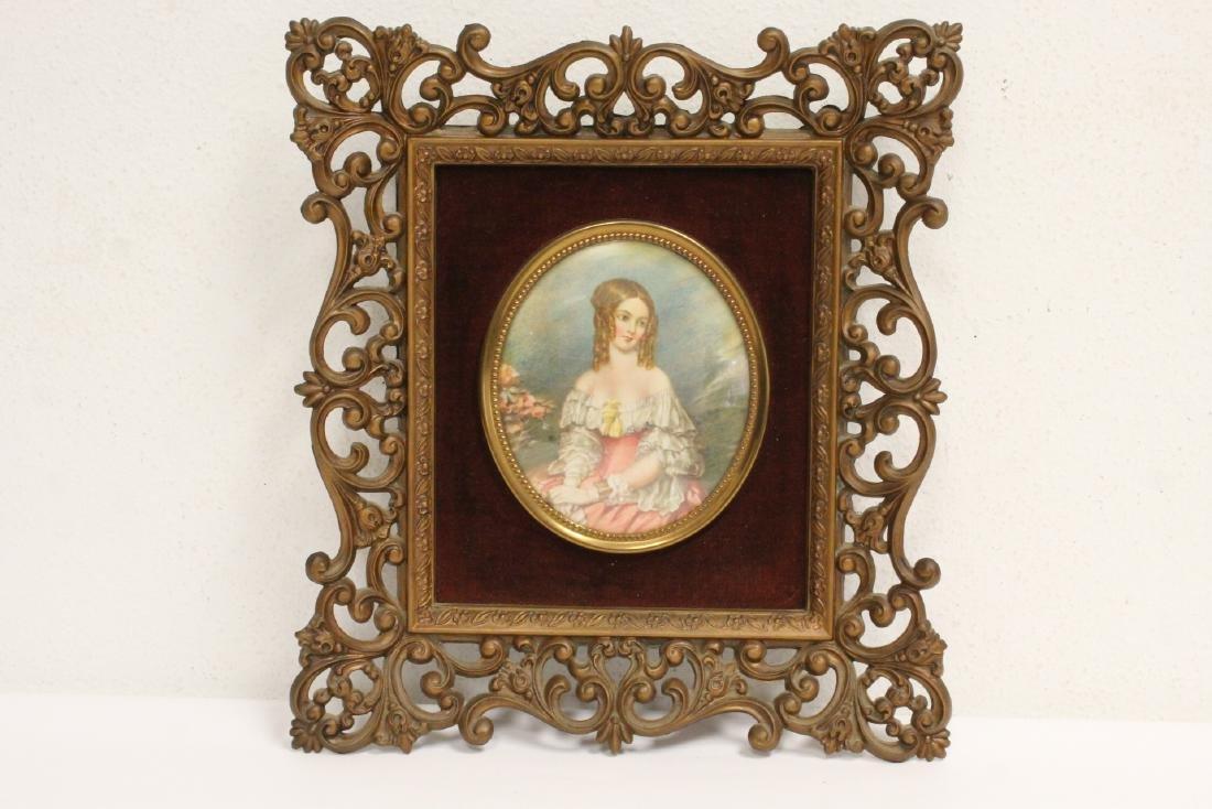 4 framed antique prints - 4