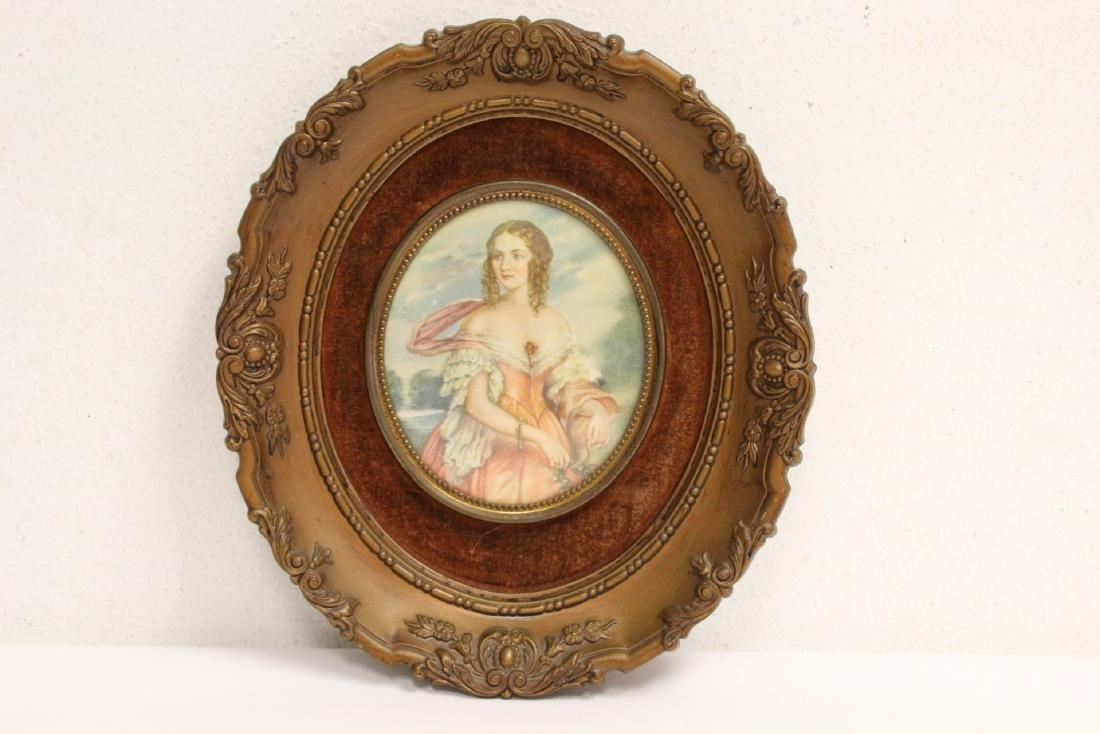 4 framed antique prints - 8