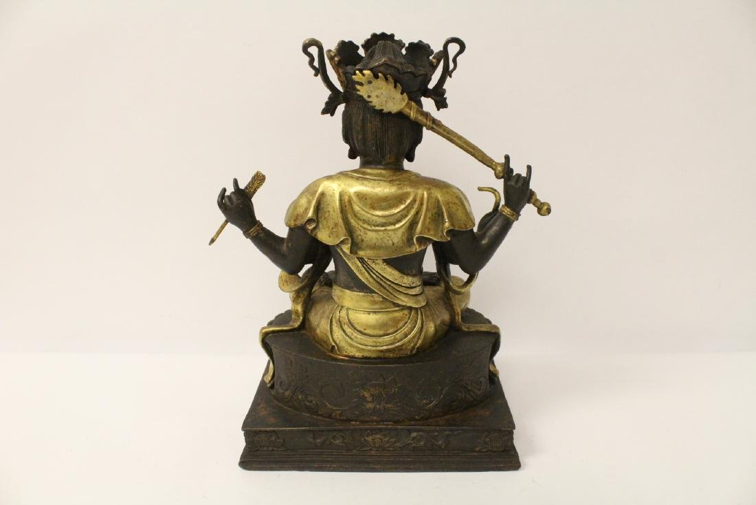 Chinese bronze sculpture of seated Buddha - 9