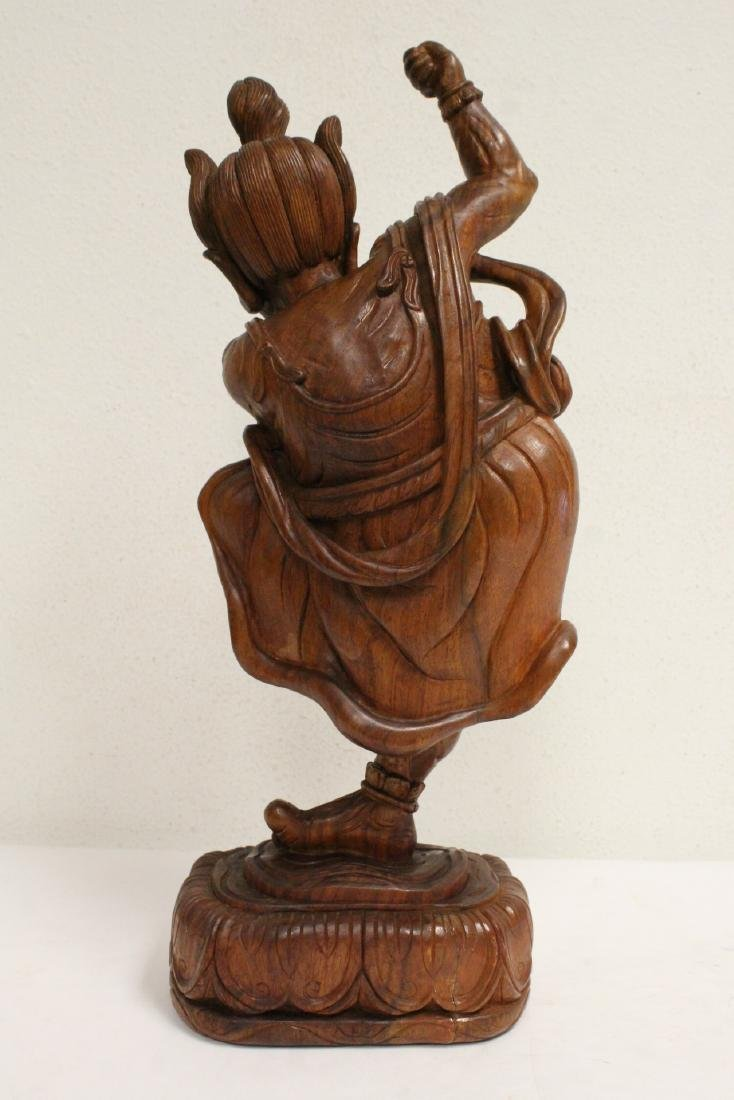 Chinese wood carved Lohan - 3