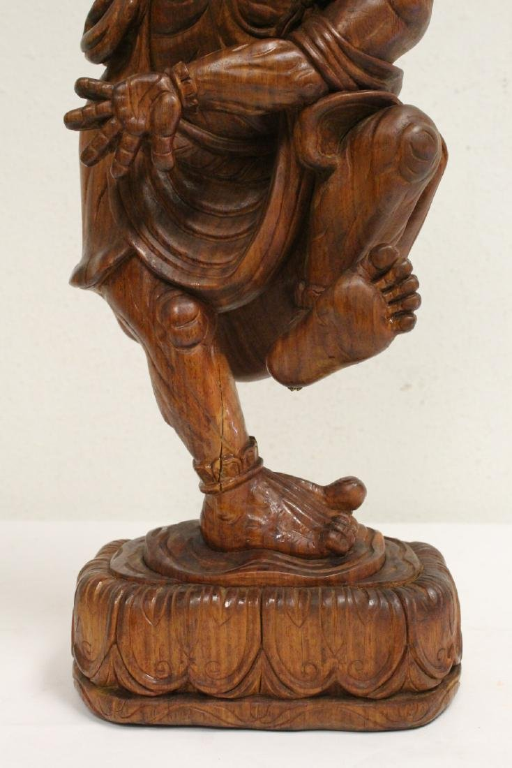 Chinese wood carved Lohan - 7