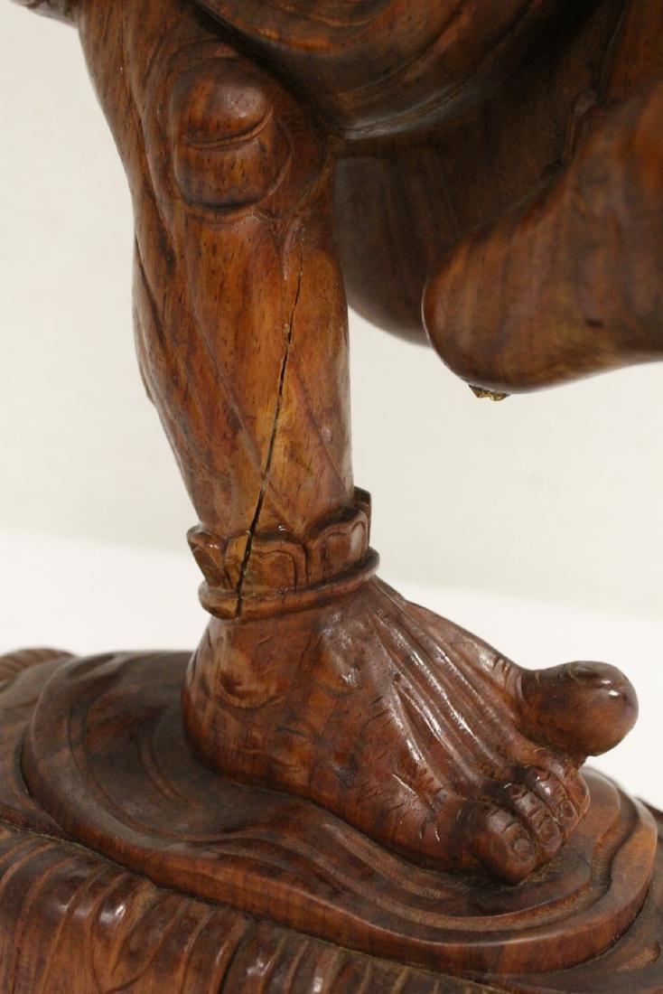 Chinese wood carved Lohan - 9