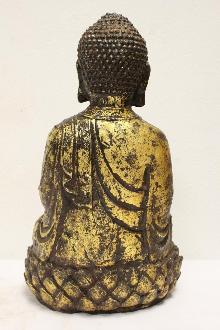 Bronze sculpture of seated Buddha - 3