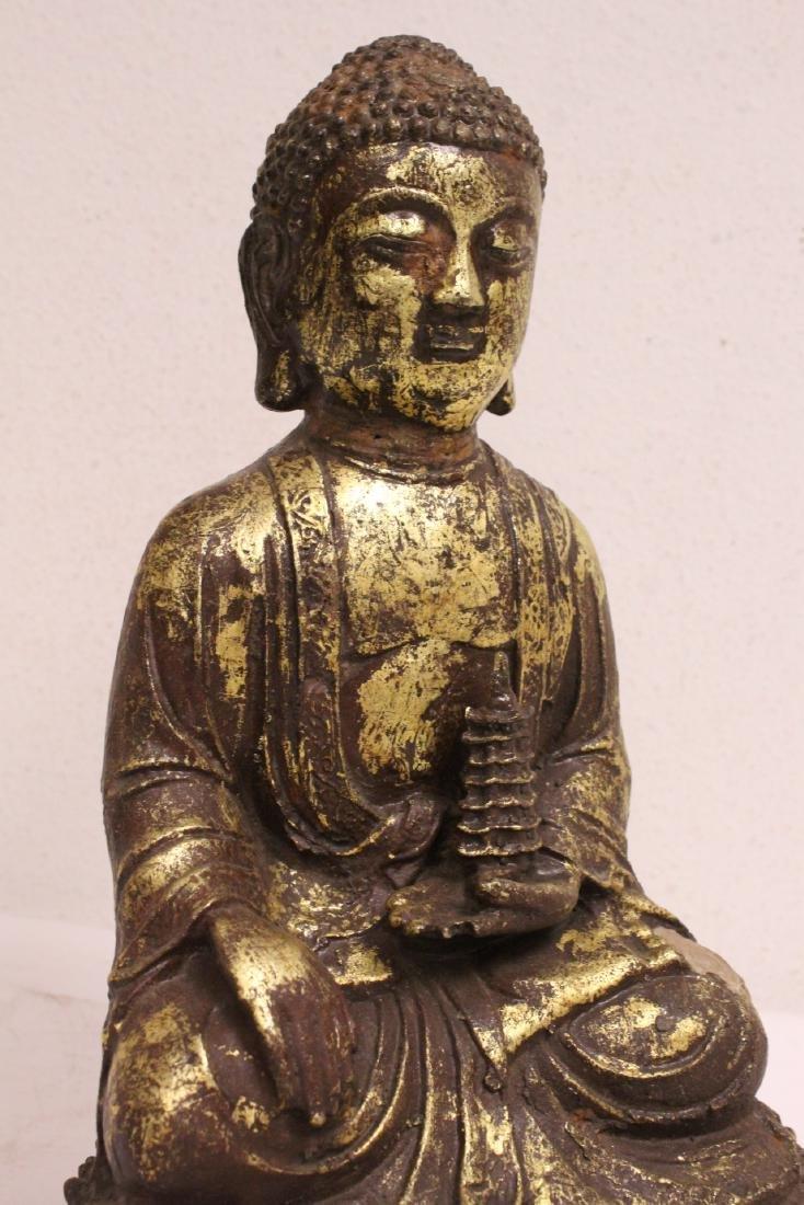 Bronze sculpture of seated Buddha - 9