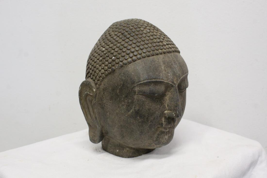 Chinese stone Buddha head - 10