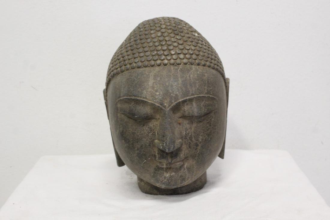 Chinese stone Buddha head - 2