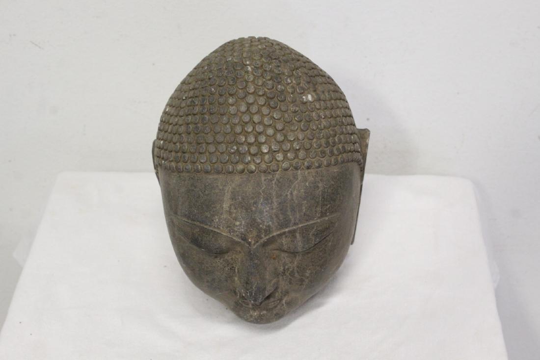 Chinese stone Buddha head - 4