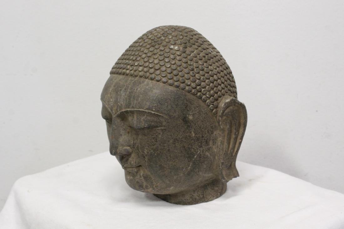 Chinese stone Buddha head - 5