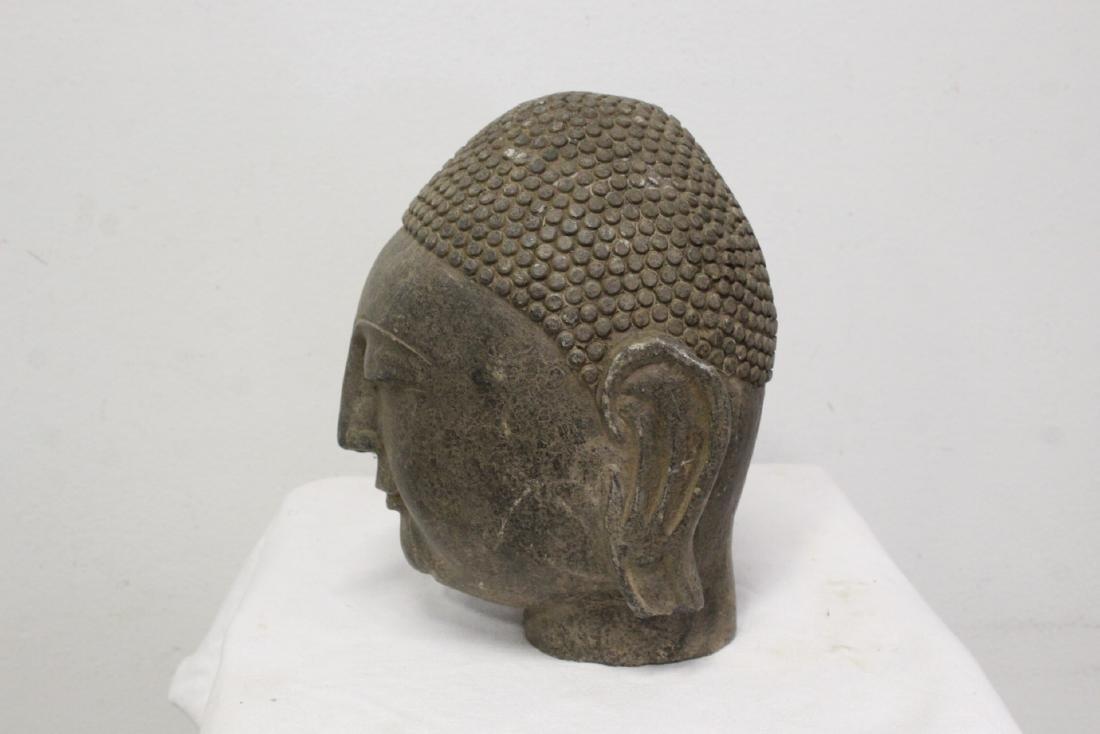 Chinese stone Buddha head - 6