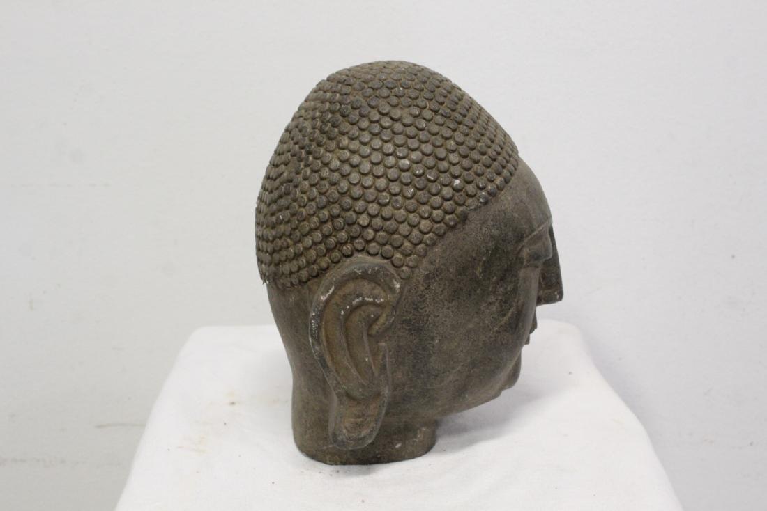 Chinese stone Buddha head - 9
