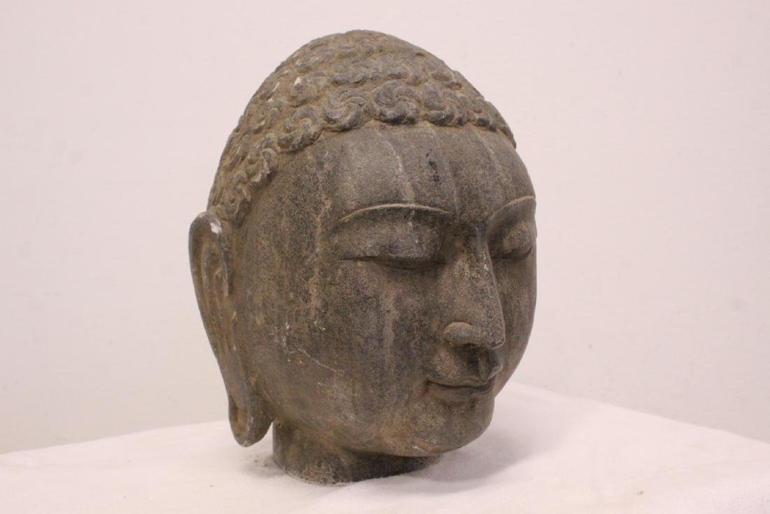 Chinese stone carved Buddha head - 10