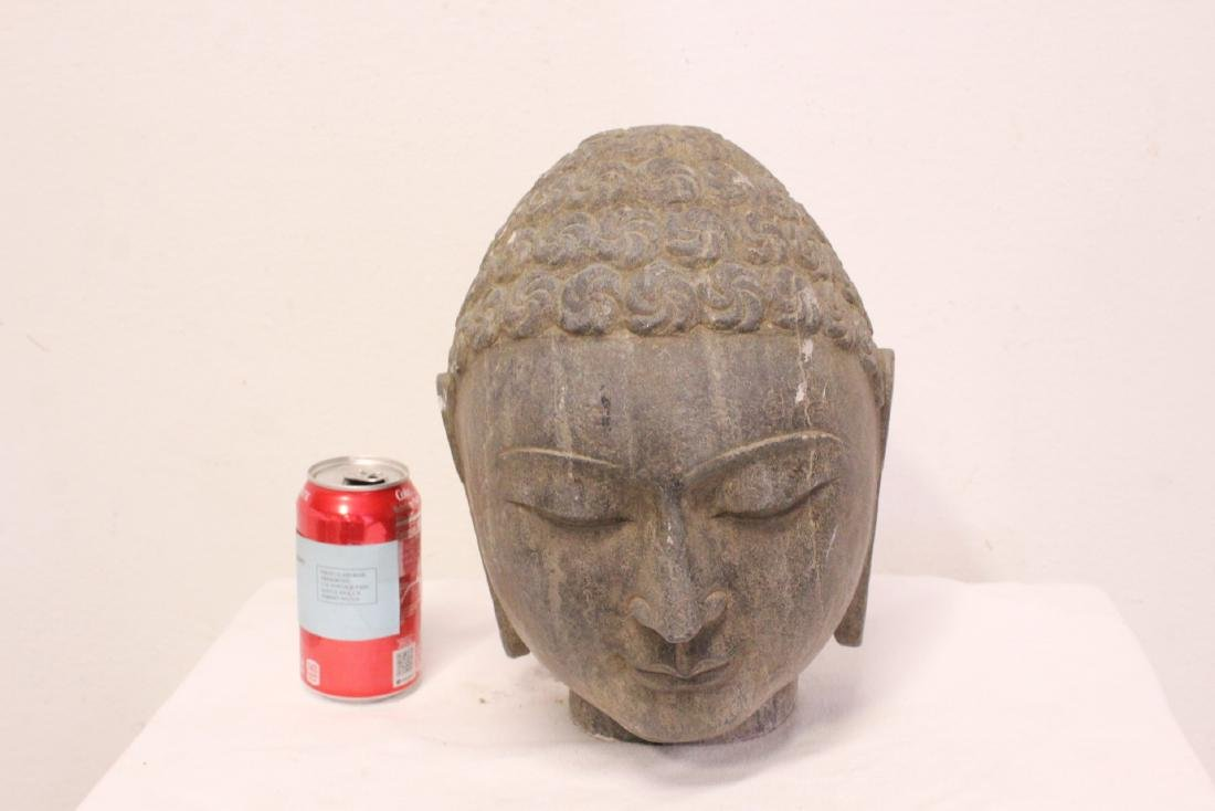 Chinese stone carved Buddha head