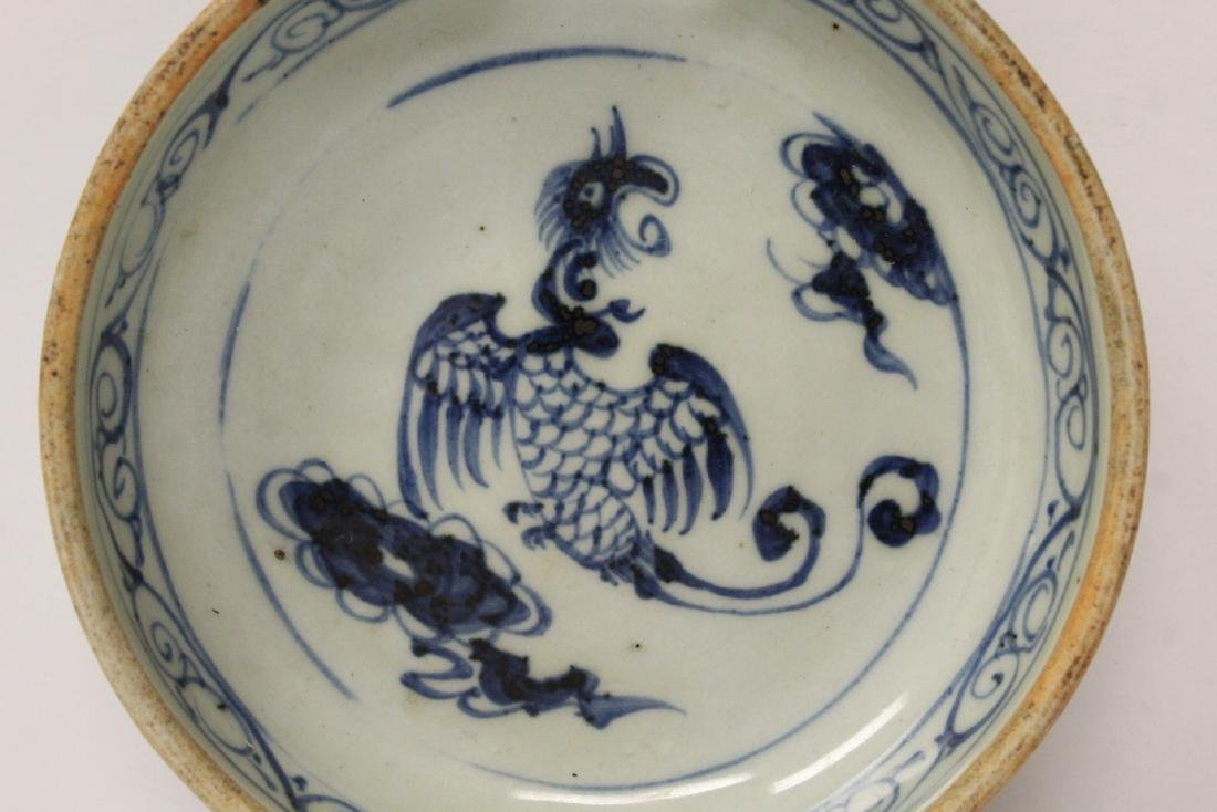 Chinese antique blue and white water dripper - 8