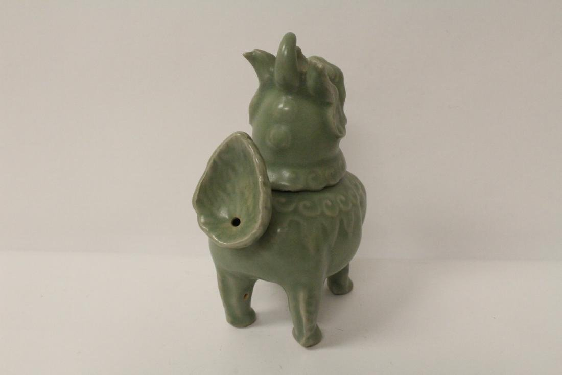 A fine Song style celadon censer in the form of qilin - 5
