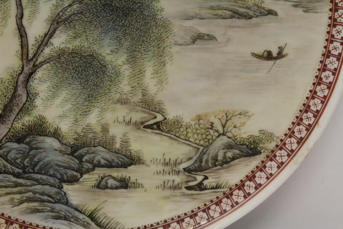 Chinese famille rose porcelain plate - 8