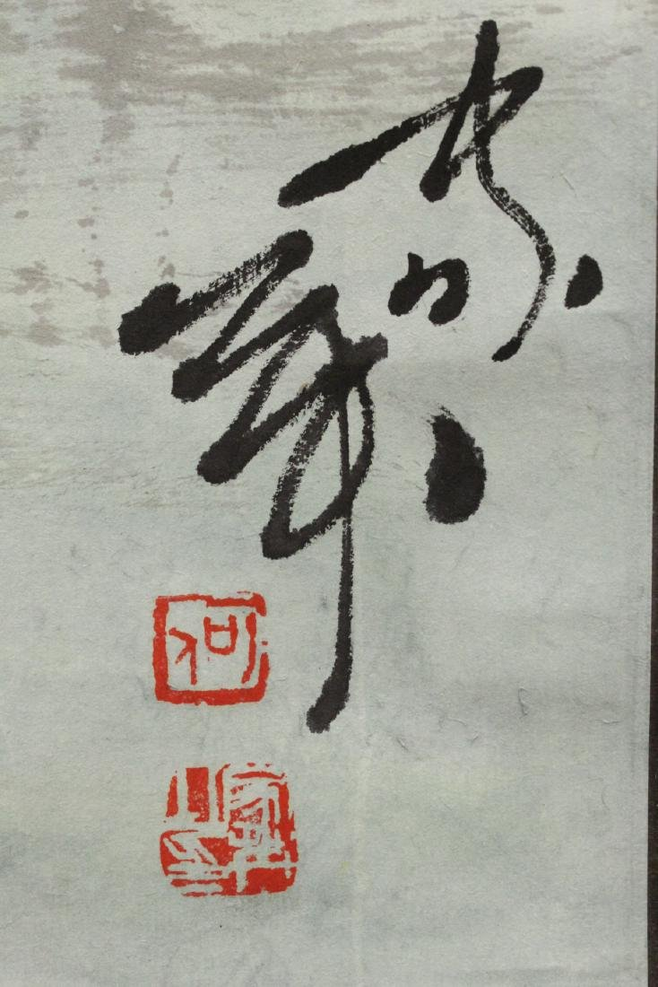 """Chinese watercolor scroll """"2 girls"""" - 9"""