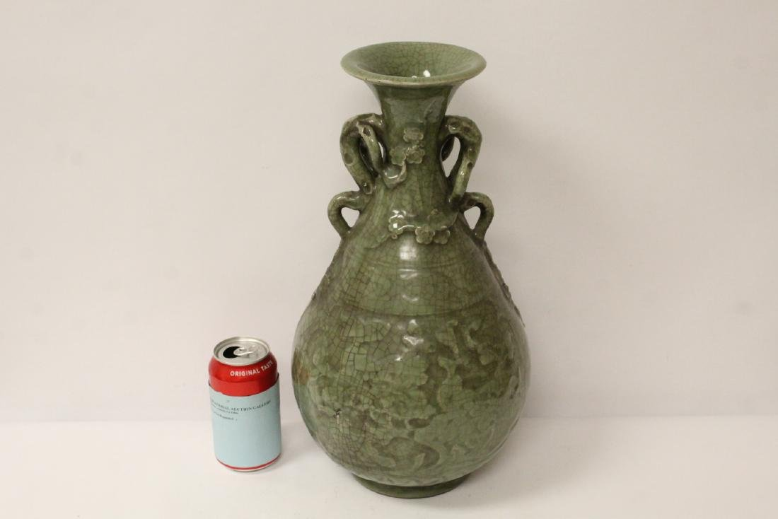 A large Song style celadon porcelain vase